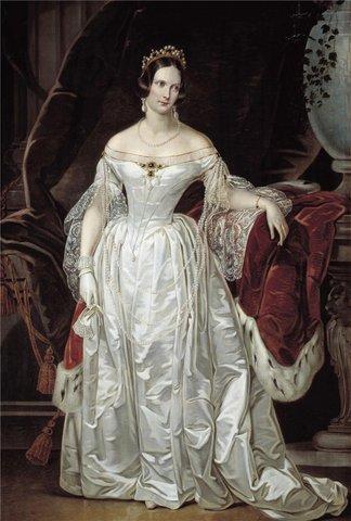 Дама 19 века в платьях