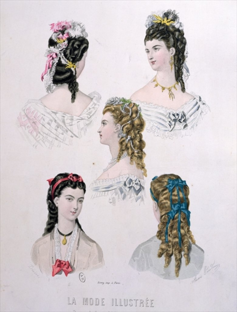мода 2 половини 19 века прически
